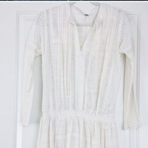 free people nomad peasant dress size med ivory